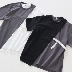 DIAGONAL CUT-OUT TEE